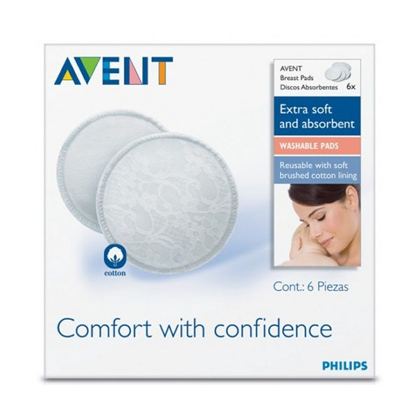 AVENT Washable Breast Pads pack of 6