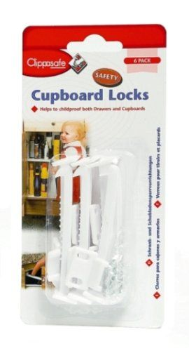 6 Cupboard and Draw Locks - Clippasafe