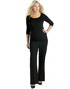 Black Maternity Trousers
