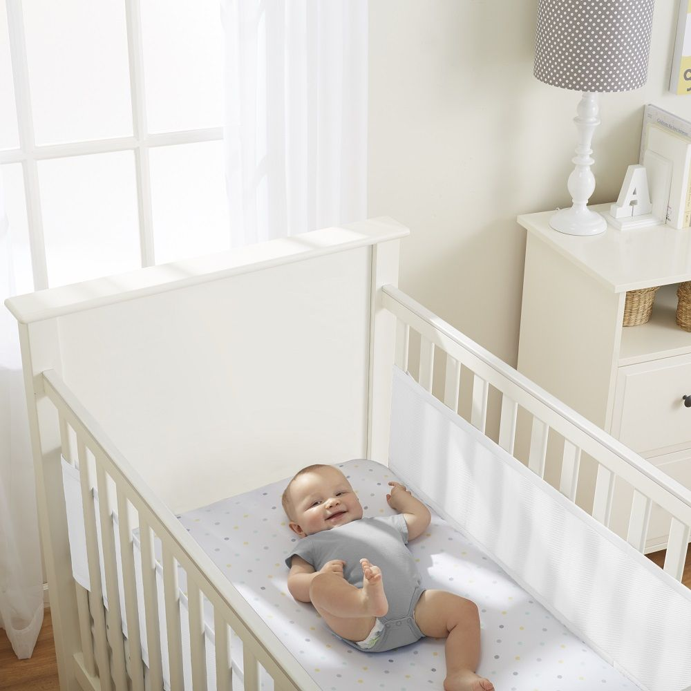 Breathablebaby Classic Mesh Cot Cotbed Solid End 2 Sided