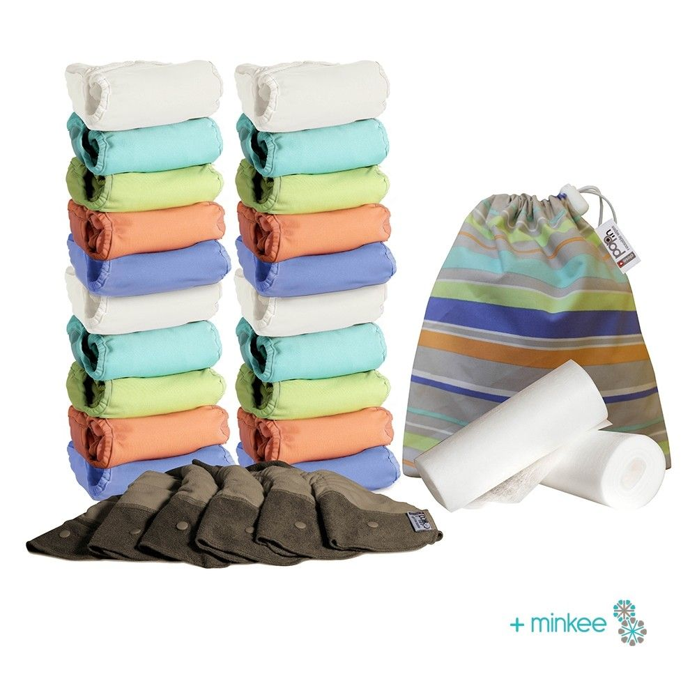 Close Pop-in New Gen V2 Reusable Nappies Box in +minkee - S, M & L Box - Pastels