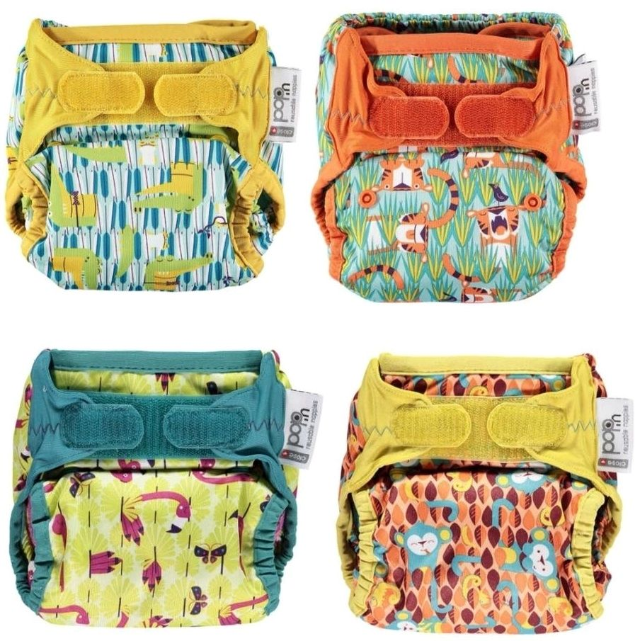 Close Pop-in New Gen V2 Single Printed Nappy +bamboo (Birth to potty) Velcro - Various designs