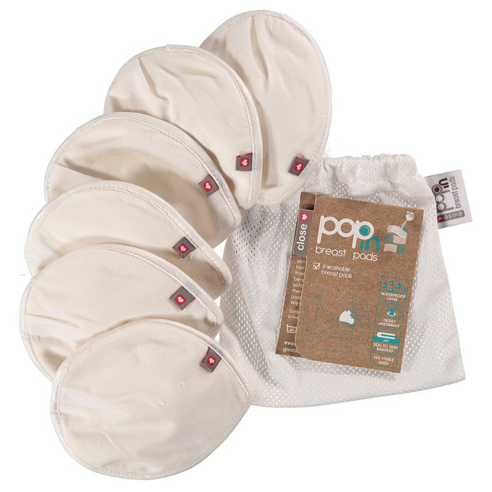 Close Pop-in Reusable Breast Pads (3 pairs in a mesh bag)