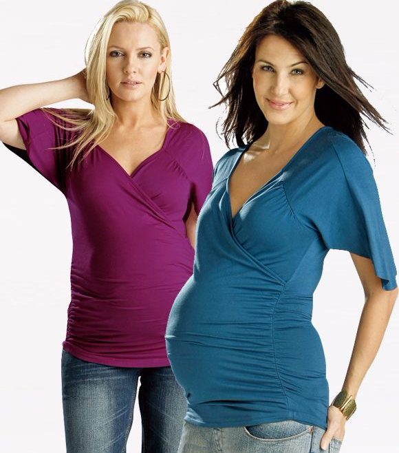 FunMum Cross-over SS Maternity/Nursing Top (4 colours) - SALE