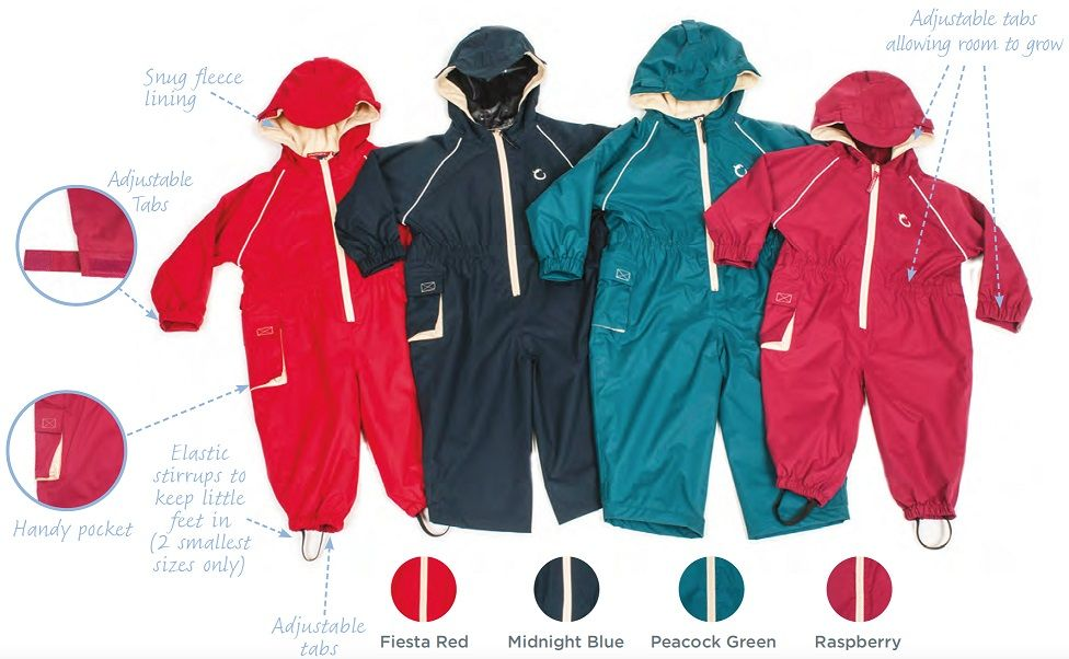 Hippychick Fleece-lined Waterproof All-in-one