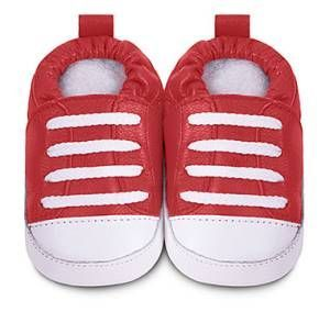 Red Trainer style ShooShoos (Leather) - 0-6months